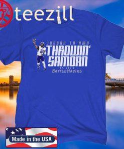 Throwin' Samoan St Louis Battlehawks T-Shirt