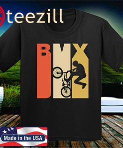 Retro 1970's Style BMX Silhouette Extreme Sports Youth Kids T-Shirt