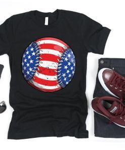 Baseball American Flag Shirt, Softball Shirt, 4th of July Shirt, Fourth of July, 4th july shirt, American Flag Shirt