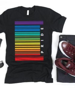 Gay Pride Barcode Flag Shirt, Gay Shirt, Gay Gifts, Gay Pride, LGBT Shirt, Pride Shirt, Lesbian Shirt, Rainbow Flag Tank Top
