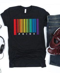 Gay Pride Barcode Flag Shirt, Gay Shirt, Gay Gifts, Gay Pride, LGBT TShirt, Pride Shirt, Lesbian Shirt