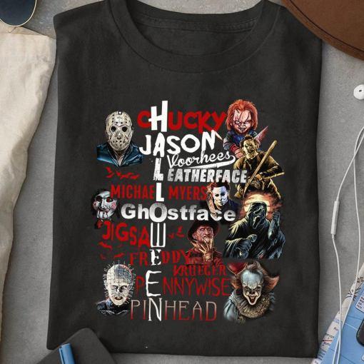 Chucky Jason Leatherface Michael Myers Ghostface Halloween 2020 shirt