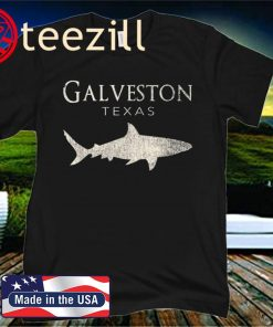 Retro Galveston TX Shark Official T-Shirt