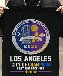 Los Angeles City Of Champions First Time Since 1988 Shirts 2020 World Champions Trophies, Los Angeles Shirt, Champions 2021 t shirt