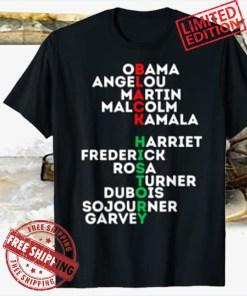 Black History Month 2021 Dream Like Leaders Kings Queens Luv Tee Shirt