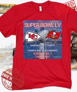 Kansas City Chiefs vs Tampa Bay Buccaneers Super Bowl 2021 Poster Tee