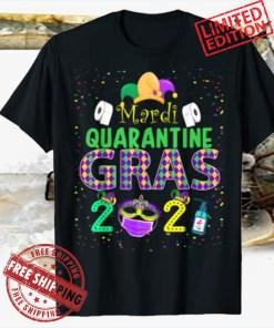 Mardi Quarantine Gras 2021 Festival Face Mask Gift Tee Shirt