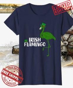 Leprechaun Hat Irish Flamingo St. Patrick's Day 2021 Shirt