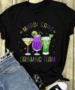 Mardi Gras Drinking Team Funny Drunk Carnival Parade Party Costume Mardi Gras T-shirt