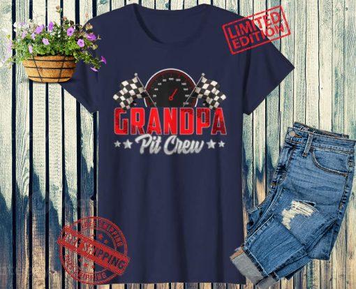 Race Car Birthday Party Racing Family Grandpa Pit Crew 2021 Shirt