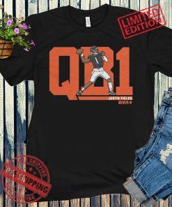Justin Fields QB1 T-Shirt - NFLPA Licensed