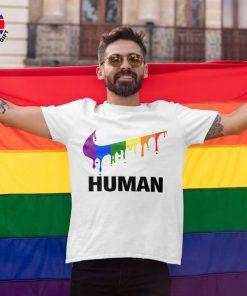 LGBT Flag Shirt, Human Pride Shirt, Gay Pride Flag Shirt, Bisexual Shirt, LGBT Sweatshirt, Lesbian T-Shirts, Rainbow Flag Shirt, Queer Shirts