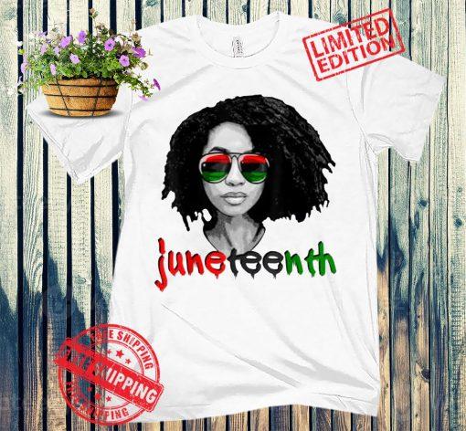 Women's Black Queen Afro Unapologetically Dope - Melanin Girl Art T-Shirt