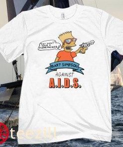 Bart Simpson Against AIDS Posters Shirt