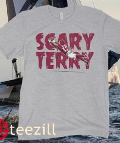 TERRY MCLAURIN SCARY TERRY FOOTBALL SHIRT