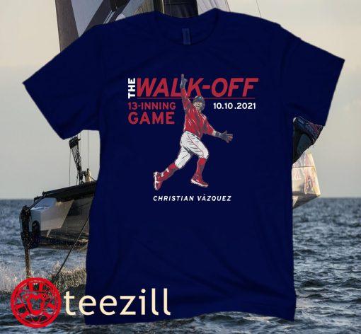 Christian Vázquez The Walk-Off Boston Red Sox Baseball Tee Shirt