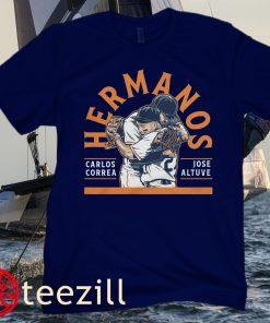 Jose Altuve and Carlos Correa Hermanos Houston Baseball T-shirt