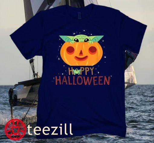 Star Wars The Mandalorian Grogu Happy Halloween Classic T-Shirt