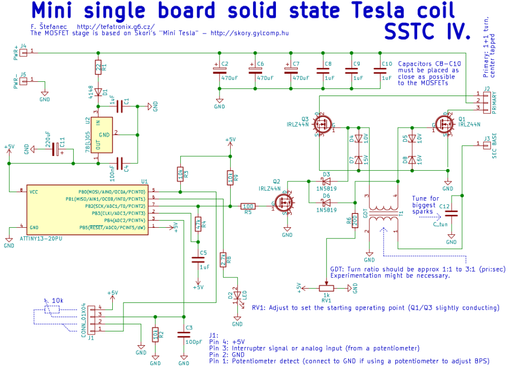 medium resolution of tefatronix solid state tesla coil iv schematic of isstc solid state tesla coil with interrupter