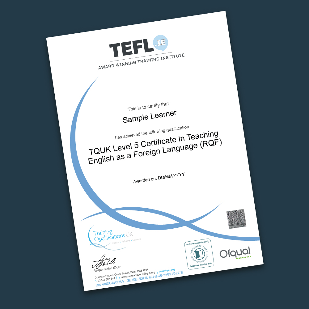 Hard copy OFQUAL certificate including worldwide postage