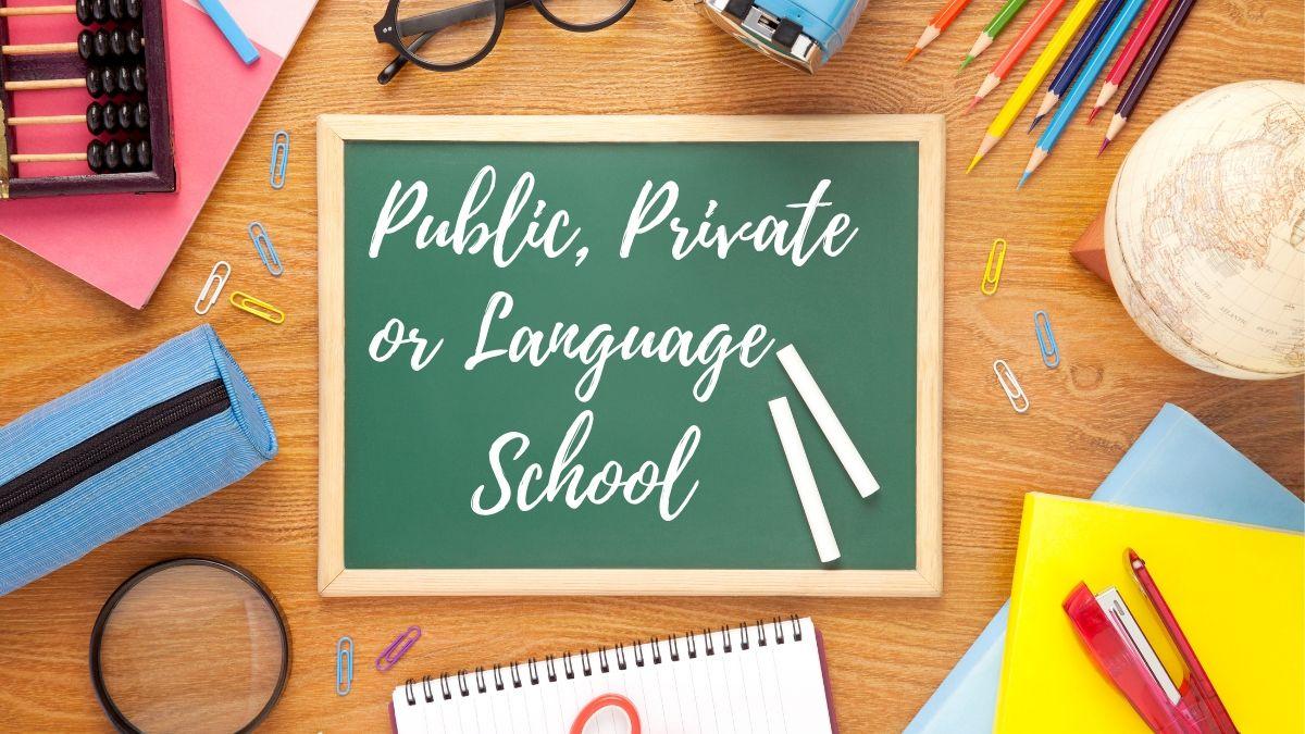 Public, Private or Language school