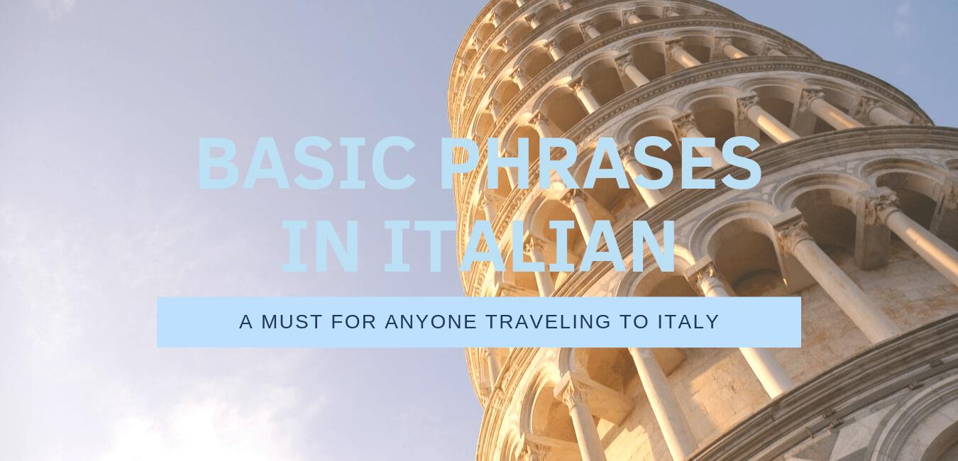 Basic phrases in italian