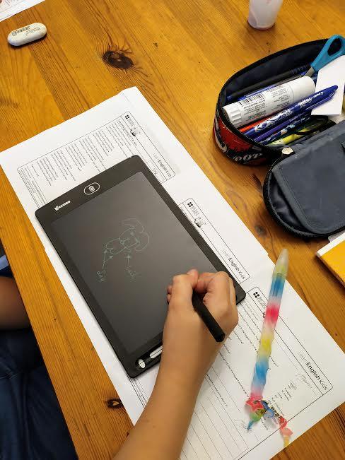 language school drawing tablet