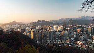 Skyline of Seoul in South Korea