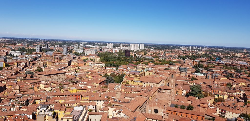 Skyline view of Bologna, Italy