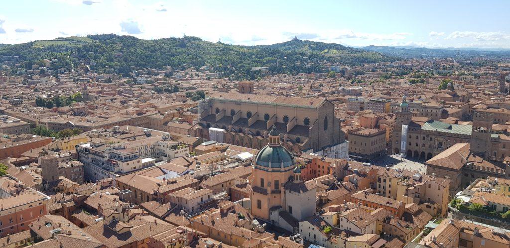 Bologna, Italy historic skyline