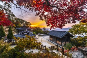 Hanok village in South Korea
