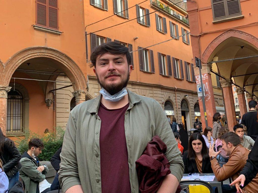 Michael teaching English in Bologna