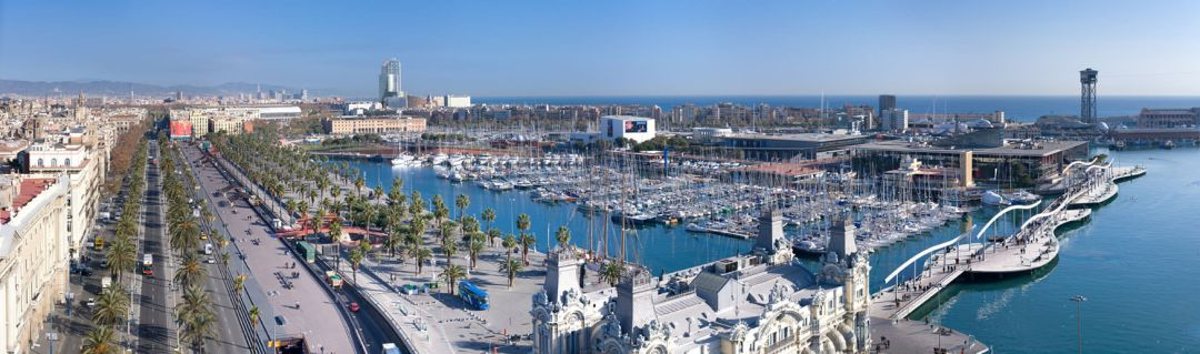 The Old Port of Barcelona Spain is worth a day trip during your TEFL studies -Photo by DAVID ILIFF License CC-BY-SA 30