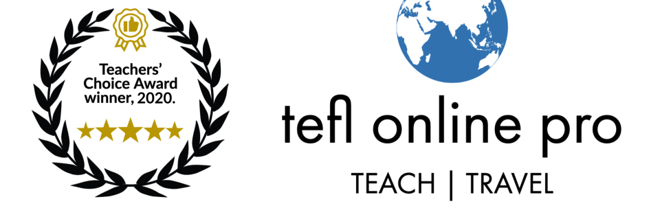 Teachers Choice Award 2020 tefl online pro