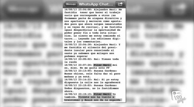 24/10 La difusió dels whatsapps que provocaren la crisis política de Vila, va ser legal