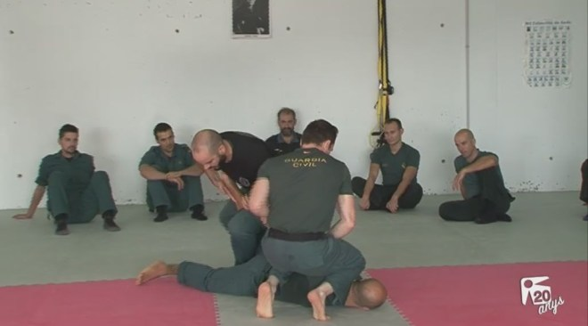 La Guàrdia Civil s'entrena a Can Coix