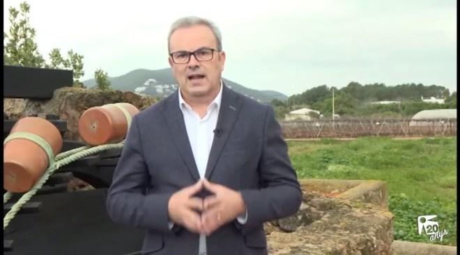 Missatge d'any nou 2017 de Vicent Torres, President del Consell d'Eivissa