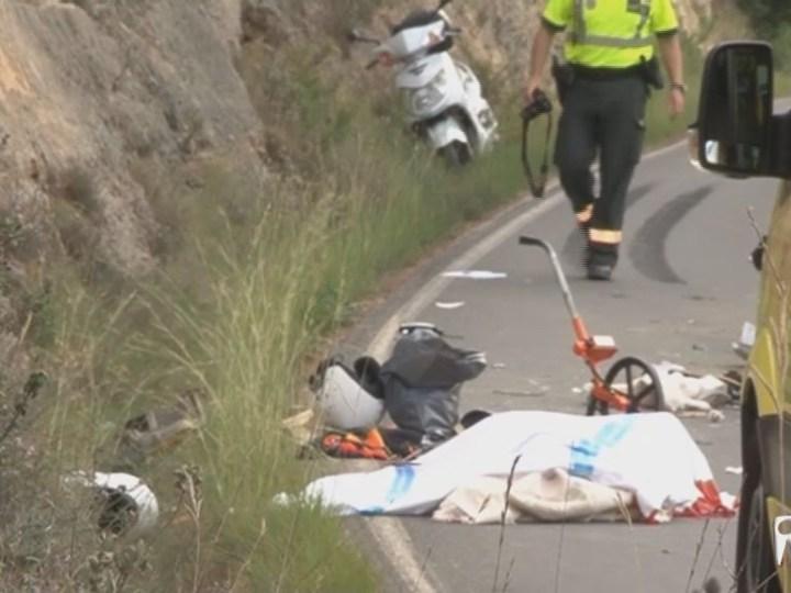 26/09 2 morts a un accident de moto a la carretera de Cala Vedella