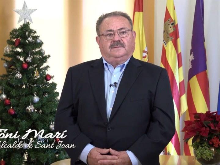 Missatge de Nadal 2019 de Antoni Marí 'Carraca', alcalde de Sant Joan