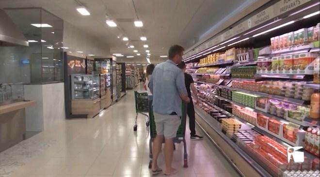 11/03/2020 Els supermercats a Eivissa segueixen dins de la normalitat