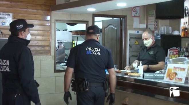 13/05/2020 Control policial a bars i restaurants