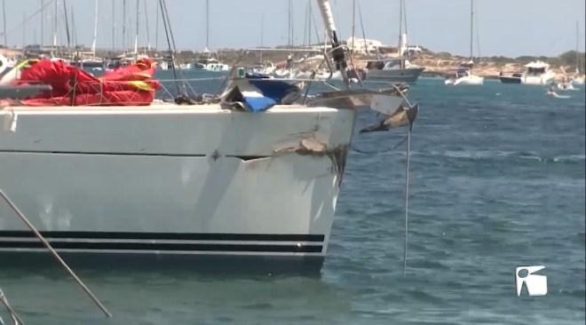 27/07/2020 Un mort en un xoc entre velers a s'Espalmador