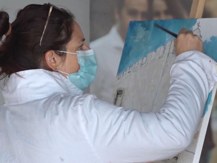 29/12/2020 L'aula de pintura es trasllada a l'exterior