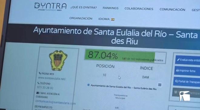 12/03/2021 L'Ajuntament de Santa Eulària, el més transparent de les Illes Balears