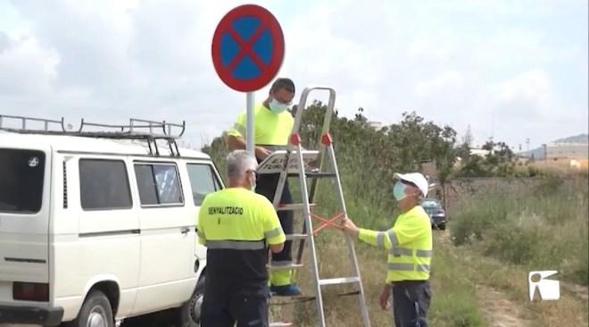 03/06/2021 Les autocaravanes de Cas Dominguets han de marxar