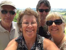 With the area's best view behind us,Clyve, Michael, Alison & me