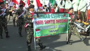 Kirab Estafet dan Parade Marchingband Hari Santri
