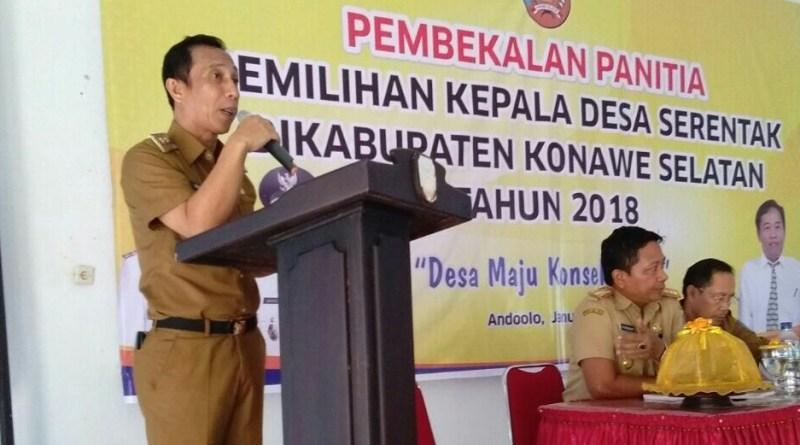 Pembekalan, Wakil Bupati Konsel: Panitia Pilkades Harus Independen
