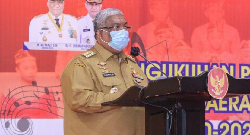Gubernur Sulawesi Tenggara (Sultra) H. Ali Mazi, SE.,