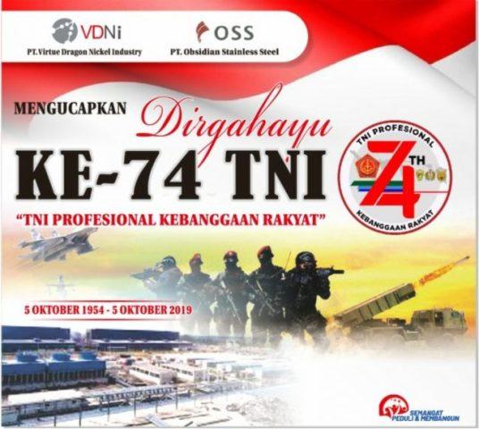 Iklan HUT TNI ke 74 VDNI